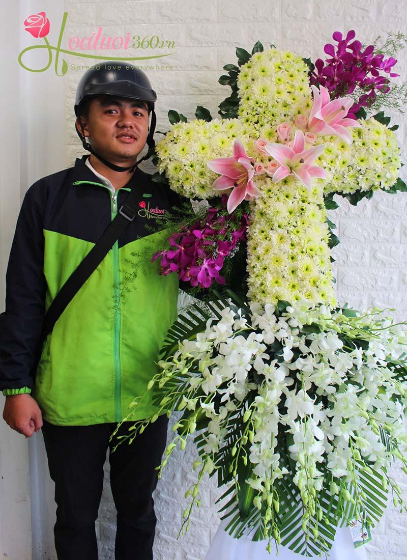 Vòng hoa tang giá rẻ 20